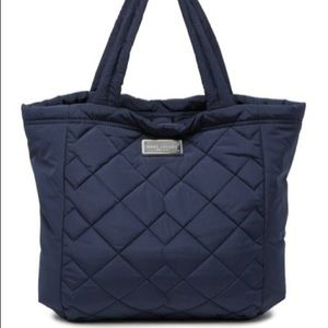 Marc Jacobs Quilted Nylon Tote Bag Indigo